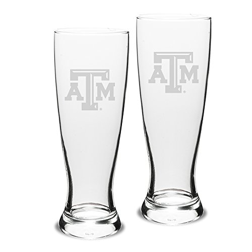 Cheap NCAA Texas A&M Aggies Adult Set of 2 – 23 oz University Pilsners Deep Etch Engraved, One Size, Clear