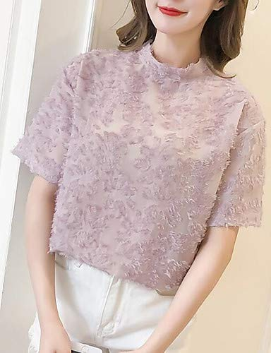 Blouse de Pink Couleur Unie Femme Support YFLTZ Blushing dp0wtqp