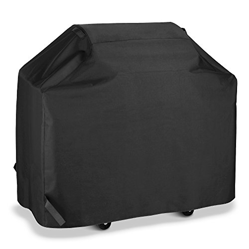 - SunPatio BBQ Grill Cover 60 Inch, Outdoor Heavy Duty Waterproof Barbecue Gas Grill Cover, UV and Fade Resistant, All Weather Protection for Weber Char-Broil Nexgrill Grills and More, Black