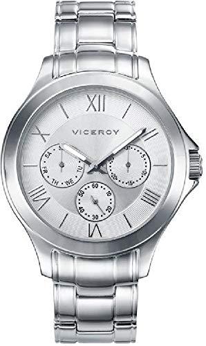 Viceroy Reloj Analógico para Hombre de Cuarzo con Correa en Acero Inoxidable 47895-03: Amazon.es: Relojes