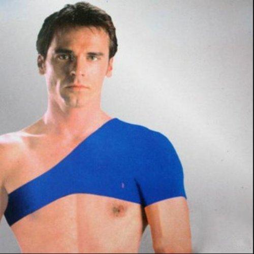 Sports Outdoor Shouder Support Guard Shoulder Pad Blue. (Frozen Seat Belt Shoulder Pads compare prices)