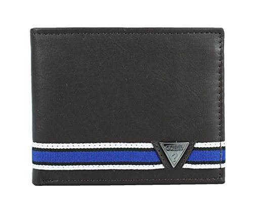 Guess Leather Billfold Passcase Wallet
