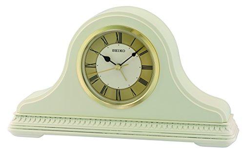 Seiko QXE017C Roman Numeral Dial with Napoleon Case Wooden Mantel Clock - Cream ()