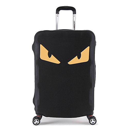 - Artone Yellow Monster Eyes Washable Spandex Travel Luggage Protector Baggage Suitcase Cover Fit 19-21 Inch Luggage Black