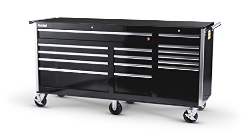 15BK 75-Inch 15 Drawer Black Tool Cabinet with 6 Heavy Duty Ball Bearing Drawer Slides ()