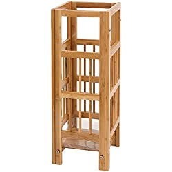 SONGMICS Bamboo Umbrella Stand Rack Canes Alpenstock Holder for Home Office ULUC50N