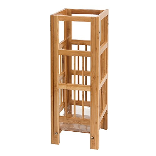 Natural Tile Finish Piece 5 (SONGMICS Natural Bamboo Umbrella Stand Rack Canes Alpenstock Holder for Home Office ULUC50N)