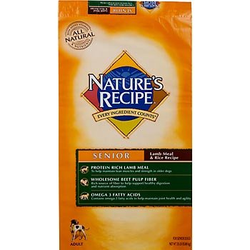 Nature's Recipe Dry Dog Food for Senior Dog, Lamb and Rice Meal, 30 Pound Bag, My Pet Supplies