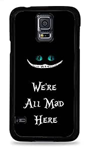We're all Mad Print Black Silicone Case for Samsung Galaxy S5