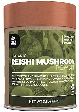 OMG Superfoods Organic Reishi Mushroom Powder – 100 Pure, USDA Certified Organic Reishi Mushroom Powder 3.5oz