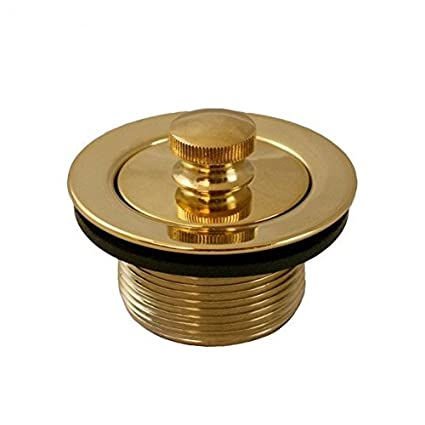 Jones Stephens Polished Brass PVD 1-1/2 Lift and Turn Tub Drain ...