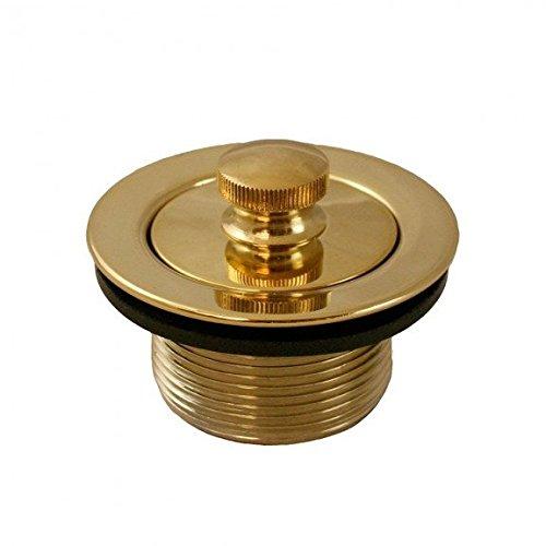 (Jones Stephens Polished Brass PVD 1-1/2 Lift and Turn Tub Drain)