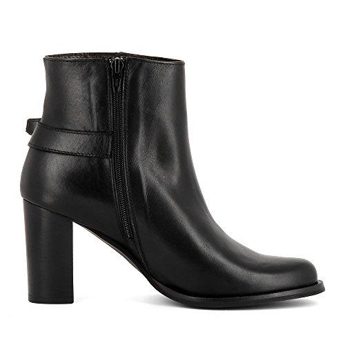 Evita Shoes LARA Bottines Femme Cuir Lisse Noir XCmRc78