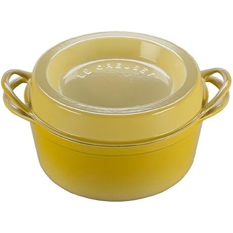 Le Creuset Enameled Cast Iron Round Doufeu 4 1 2 Quart Soleil