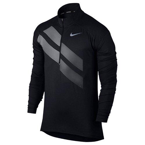 Nike ElementメンズRunningトップ Medium ブラック B01MDTLRZH