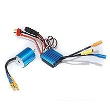MonkeyJack 2430 7200KV 4P Sensorless Brushless Motor+25A Brushless ESC for 1/16 1/18 RC Racing Car Truck Parts