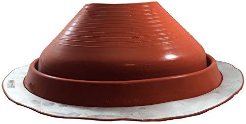 dektite-round-base-pipe-flashing-boot-9-red-high-temp-silicone-flexible-pipe-flashing-dektite-for-od