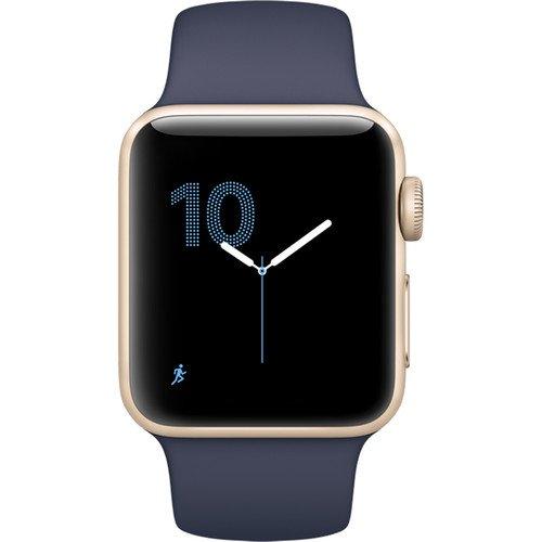 Apple Watch Series 2 38mm Smartwatch (Gold Aluminum Case & Midnight Blue Strap)