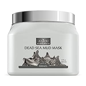 Anjou Dead Sea Mud Mask (17 Oz / 500ml, Made in Israel) for Facial and Body Treatment