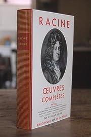 Oeuvres Completes Tome II Prose de Racine