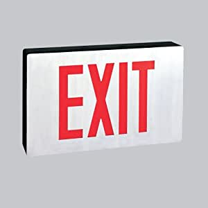 LED Die-Cast Architectural Exit Signs- AC Only, Red Letters