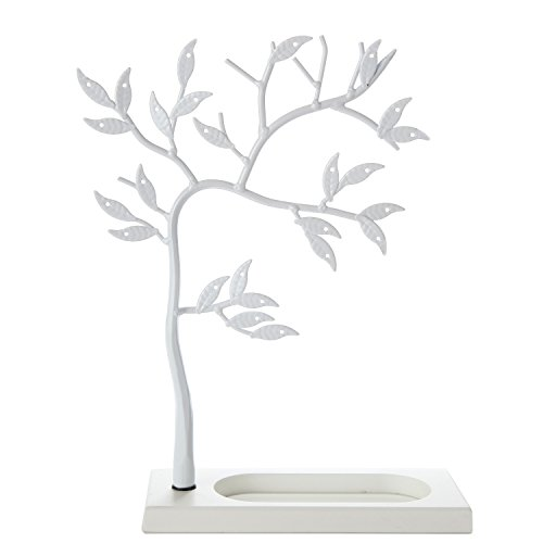 LilGift Metal Jewelry Tree / Jewelry Holder (WHITE) (Jewelry Tree White)
