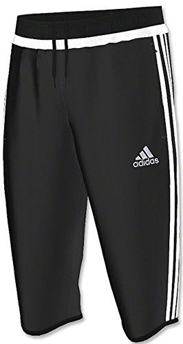 adidas Performance Men's Tiro Three-Quarter Pant, X-Small, Black/White/Black