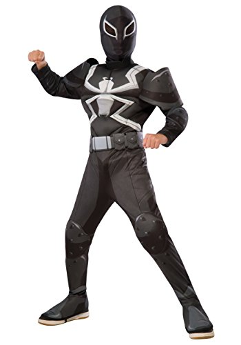 Rubie's Costume Spider-Man Ultimate Deluxe Child Agent Venom Deluxe Costume, (Deluxe Spiderman Costumes)