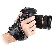 Micnova MQ-GS1 Genuine Leather Combo Wrist & Grip Strap for DSLR Cameras (Tripod Mount Attachment) Style#1