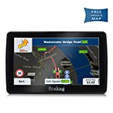 Car GPS Navigation, Vehicle HD 7 inch GPS Navigation System with Built-in North America s Latest map,Driving Alarm, Voice Steering Navigation, Lifetime Free Upda