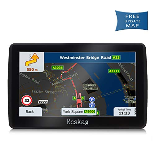 Car GPS Navigation, Vehicle HD 7 inch GPS Navigation System with Built-in North America s Latest map,Driving Alarm, Voice Steering Navigation, Lifetime Free Upda by Rcskag