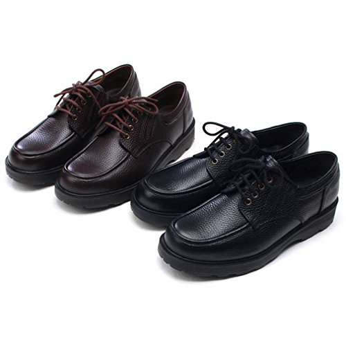 EpicStep Mens Casual Dress Formal Business Comfort Genuine Leather Lace Up Loafers Shoes Sneakers Black wTsXukmLN