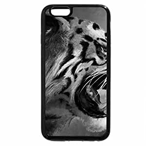 iPhone 6S Plus Case, iPhone 6 Plus Case (Black & White) - Tiger