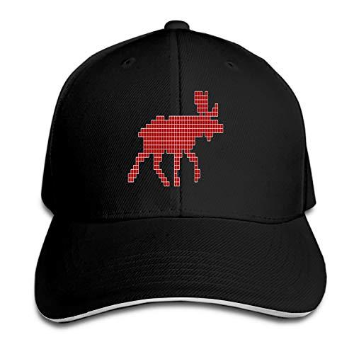 ed Pixels Cloth Snapback Cap Flat Bill Hats Adjustable Blank Caps for Men Women ()