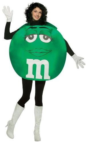 M&m Adult Costumes (Rasta Imposta M&M's Poncho, Green, Standard)