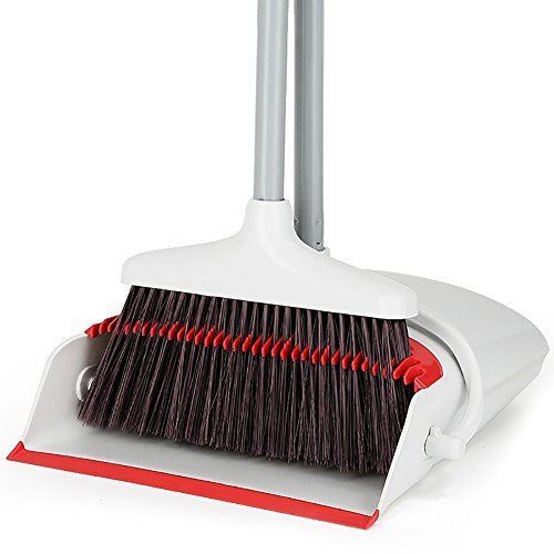 Broom and Dustpan/Dust pan and Broom Combo/Dust Pan Sweep Set Artifact Standing Upright Foldable Set Home Office Use by