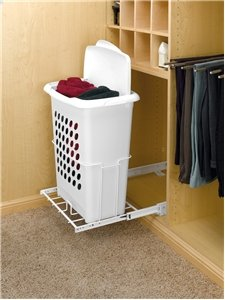 - Rev-A-Shelf Pullout w/lid Hampers, White