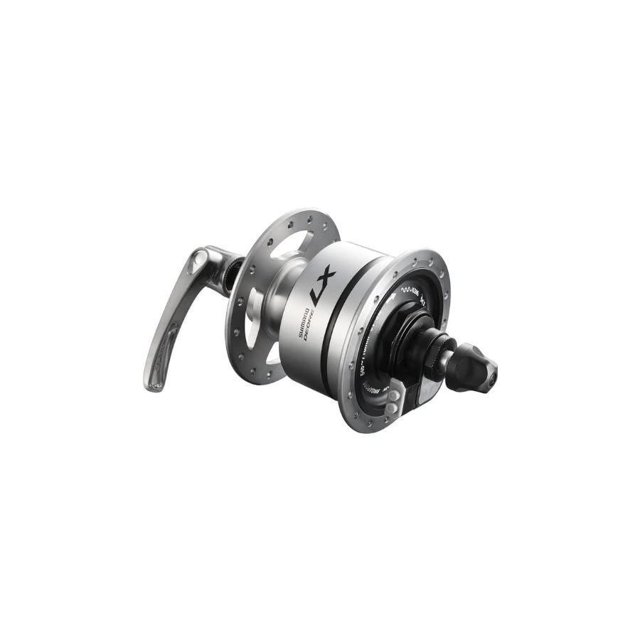 Shimano Deore LX DH T670 Deore LX 6v 3.0w quick release dynamo front hub, 36h, silver