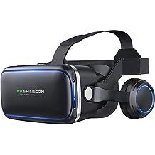 Headset Realidade Virtual, VR Headset VR SHINECON para TV, Filmes e Video Games - Óculos 3D VR Óculos VR Compatível com iOS, Android e outros telefones dentro de 4,7-6,0 polegadas