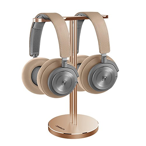 Price comparison product image BeoPlay Dual Headphone Stand, Jokitech Aluminum Slim Headphone Stander, Suitable for Beats, Sennheiser, Sony, Audio-Technica, Bose, Shure, AKG, JBL, Logitech, Razer Gaming Headphones and More -Gold