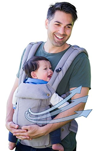 360 Ergonomic Baby Carrier - All Season Baby Sling - 6 Position, Easy Breastfeeding, No Infant Insert Needed, One Size Fits All - Adapt to Newborn, Infant & Toddler, Great Hiking Backpack Carrier (Standard Neck Stage 3)