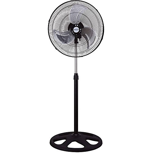 Brentwood 18 Inch 3-in-1 Electric Quiet Whisper Cooling Stand, Floor, Desk, Wall Fan,Silver/Black (Thru Floor Fan compare prices)