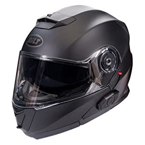 Bilt Techno 2.0 Sena Bluetooth Evolution Modular Helmet - 2XL - Matte Black