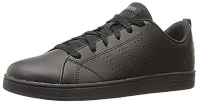 adidas Kids' VS Advantage Clean Sneaker, Black/Black/Onix, 1 M US Little Kid