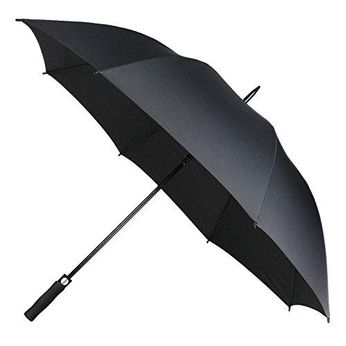 Fnova 62 Inch Auto Open Umbrella, Full Size 210T Microfiber Fabric with Teflon Rain Repellant Protection, Ultra Rain & Wind Resistant,