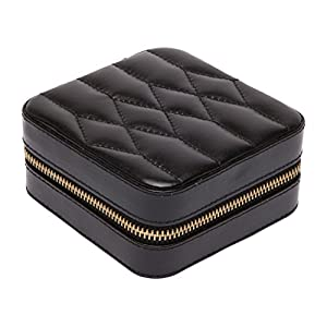 WOLF 329971 Caroline Zip Travel Jewelry Case, Black