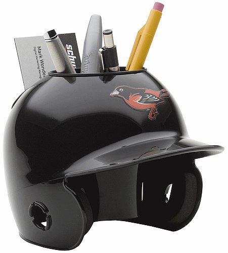 Throwback Mini Batting Helmet - Schutt MLB Baltimore Orioles Throwback Authentic Mini Batting Helmet Desk Caddy
