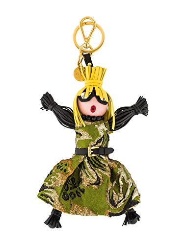 (Prada Trick Pelle Felce Green Dress Jasmine Doll Keyring 1TL171)