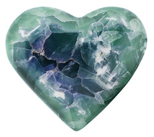 Elegant Fluorite Puff Heart Figure, 4.75