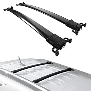 ALAVENTE Roof Rack Cross Bars Set For Chevy Equinox GMC Terrain 2010 2011  2012 2013 2014 2015 2016 2017 (Pair, Black)